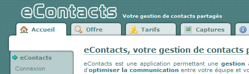 Application eContacts